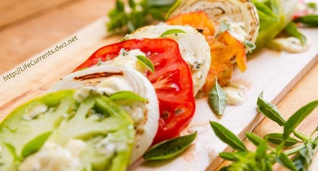 Plank Grilled Blue Cheese Caprese