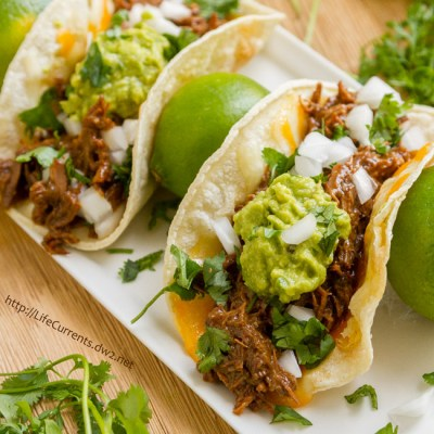 October is Tailgating Snacks Month 2016 -Crock Pot or Slow Cooker Mexican Carne Asada for tacos, burritos, nachos, anything!
