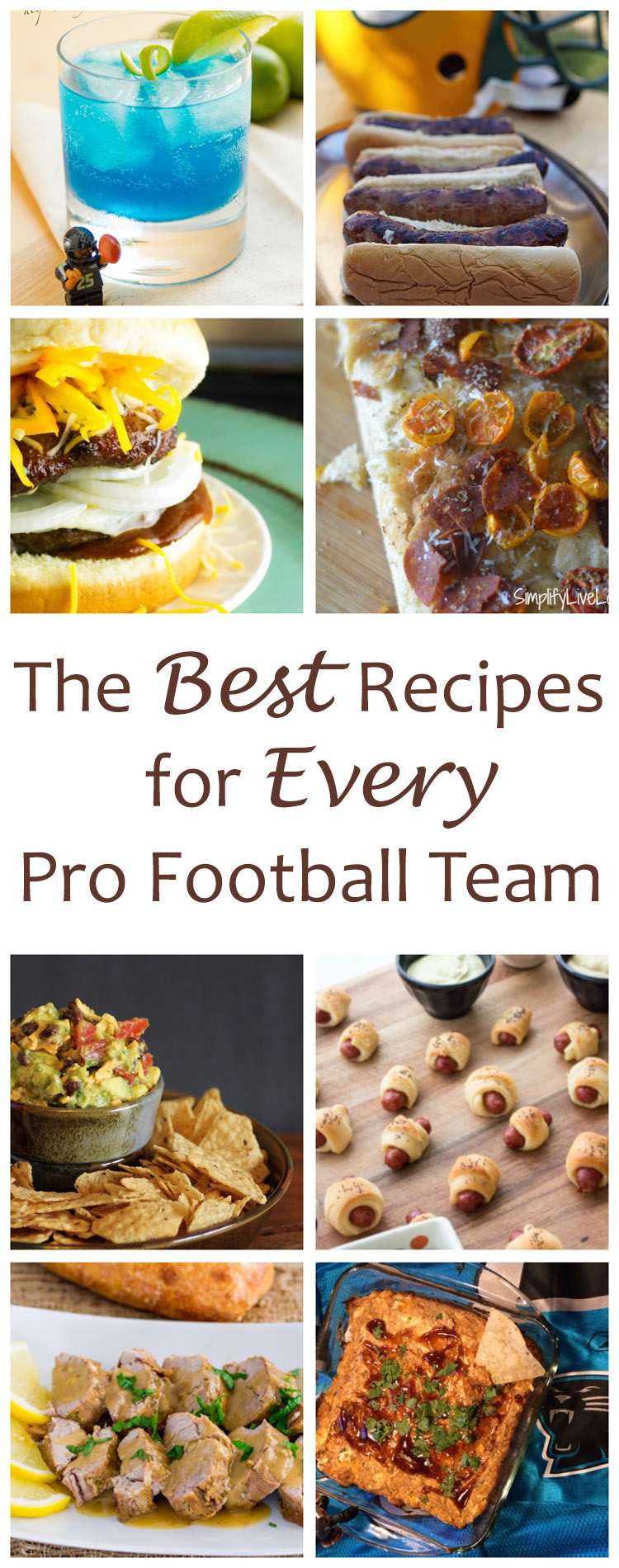 The Best Recipes for Every Pro Football Team - That's right, 32 Pro Football Team Recipes - no matter which team is your favorite, I have a recipe for you!