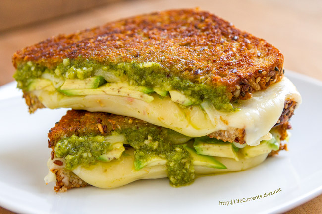 Pesto Avocado Grilled Cheese Sandwich