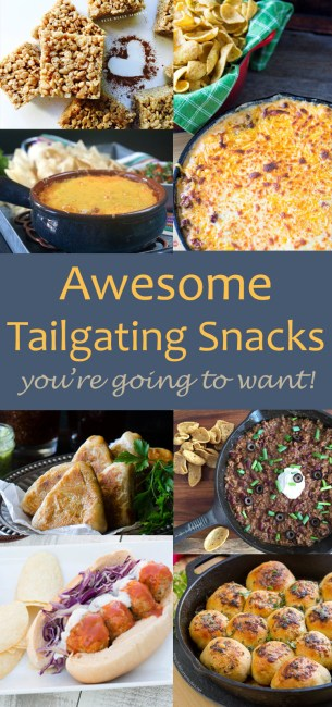 October is Tailgating Snacks Month 2016 - the third annual tailgating snacks month! And this month I had some friends join in! Here's a round-up of all the tailgating goodness that was shared this month - all in one place!
