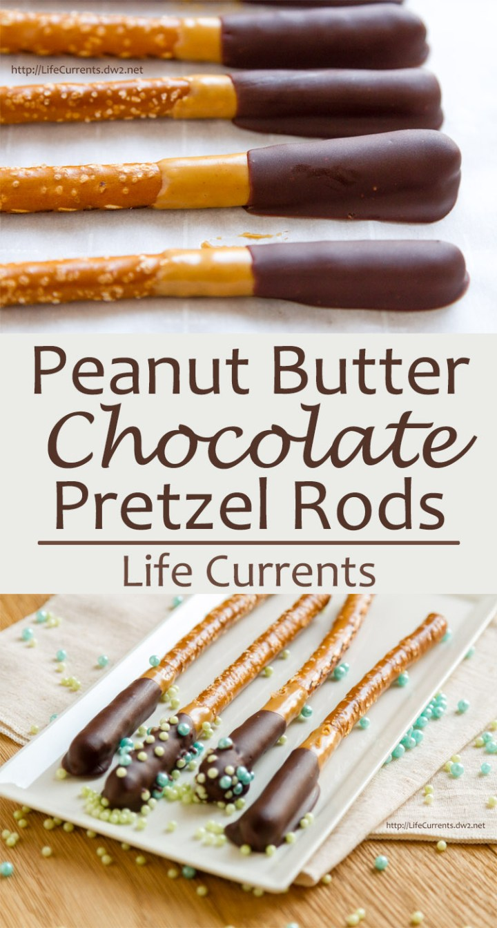 Chocolate Peanut Butter Pretzel Rods for choctoberfest 2016 and Tailgating Snacks Month are a fun dessert snack that everyone young and old will love