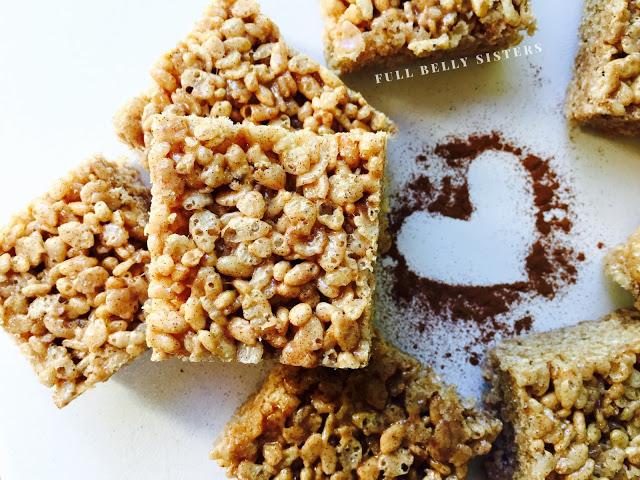 October is Tailagting Snacks Month 2016 - Brown Butter Cinnamon Churro Rice Krispie Treats