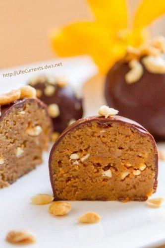 No Bake Peanut Butter Cookie Truffles - yummy little bundles of peanuty goodness