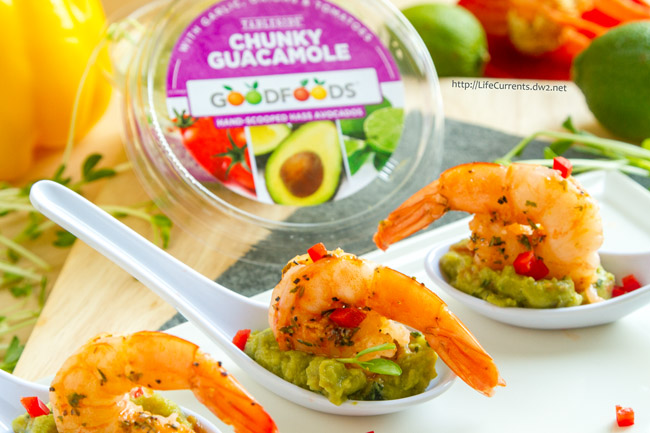 Guacamole Shrimp Appetizer Recipe with GOODFOODS Tableside Chunky Guacamole