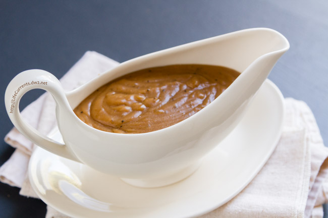 Mom's Vegetarian Gravy is the perfect addition to your holiday table