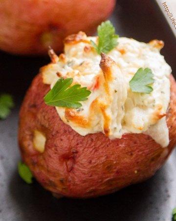 Crab Stuffed Baked Potatoes