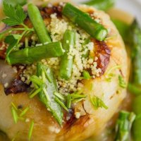 Roasted Sweet Onions with Couscous and Veggies