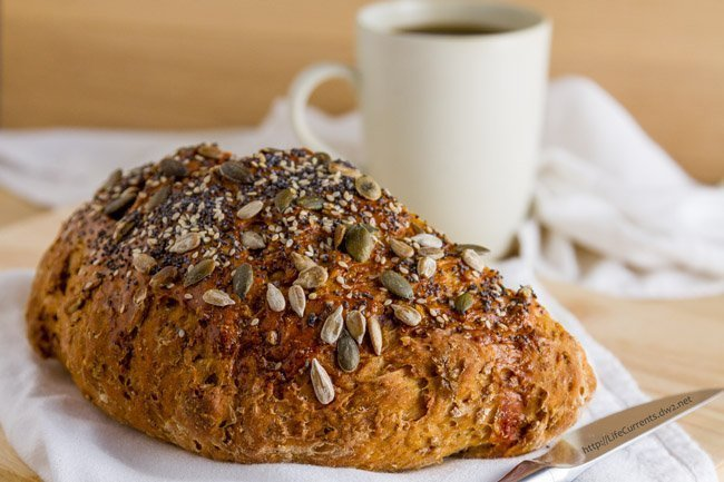 Cook's Country Dakota Bread - hot fresh seven grain homemade bread from scratch - it doesn't get any better or any more comforting than this, and with some added nutrition from the whole grains