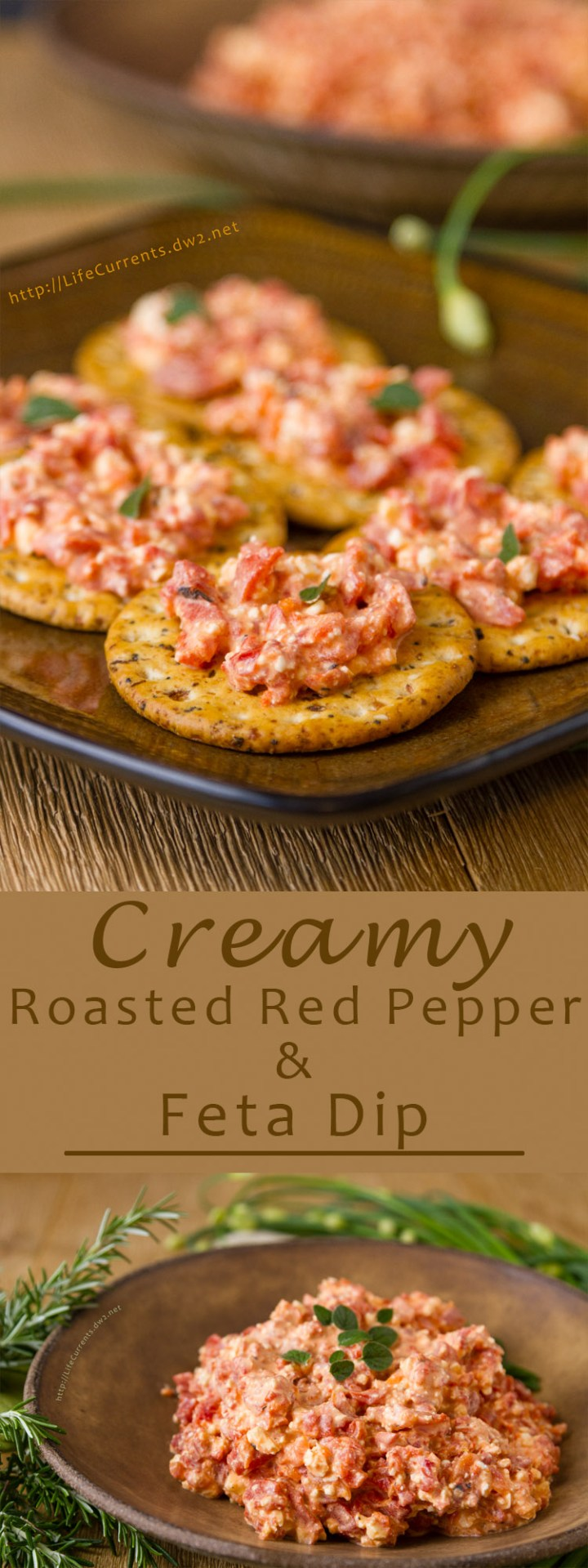 Creamy Roasted Red Pepper and Feta Dip – full of flavor & really impressive, but super easy to make. All they'll know is how delicious it is!
