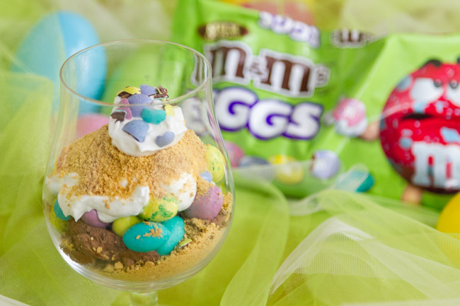 Easy M&Ms® Easter Individual Parfaits