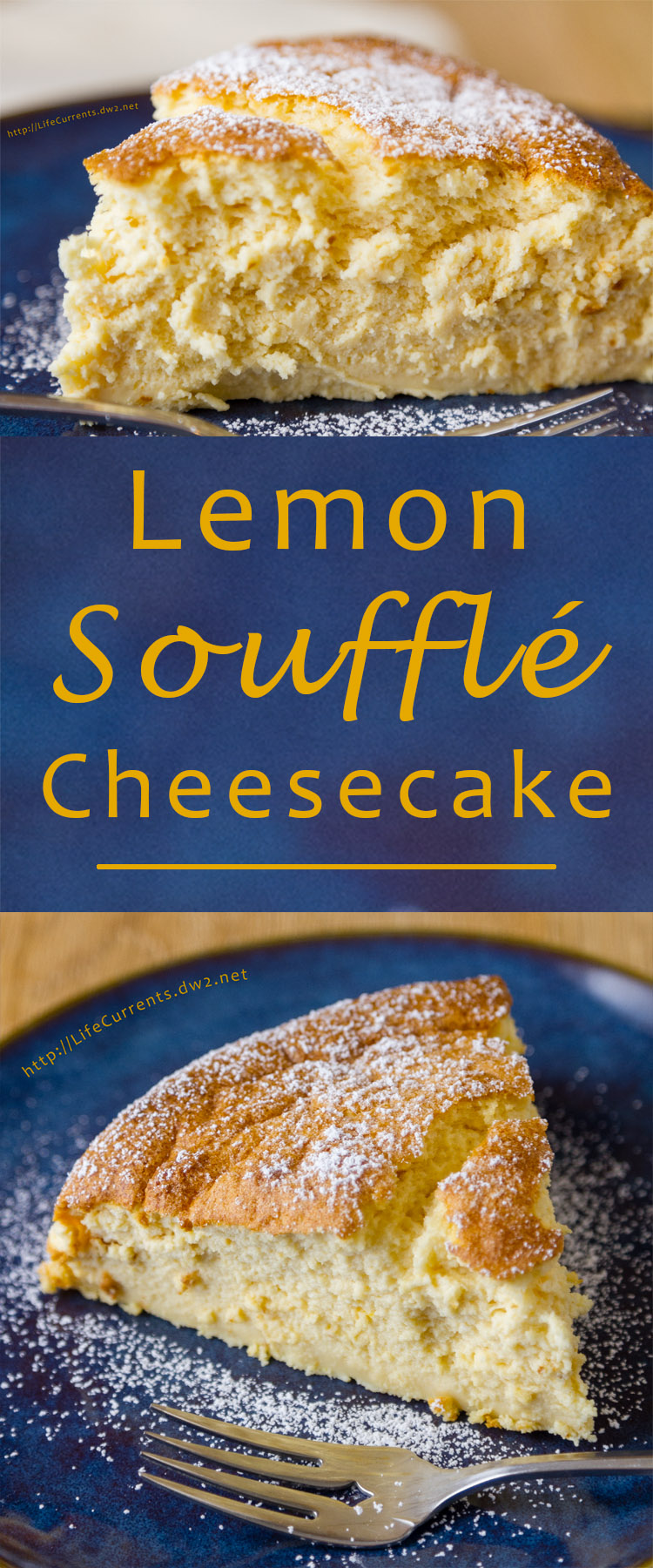 Lemon Soufflé Cheesecake - light and airy, creamy, delicious!