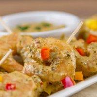 Creamy Pesto Shrimp Appetizer