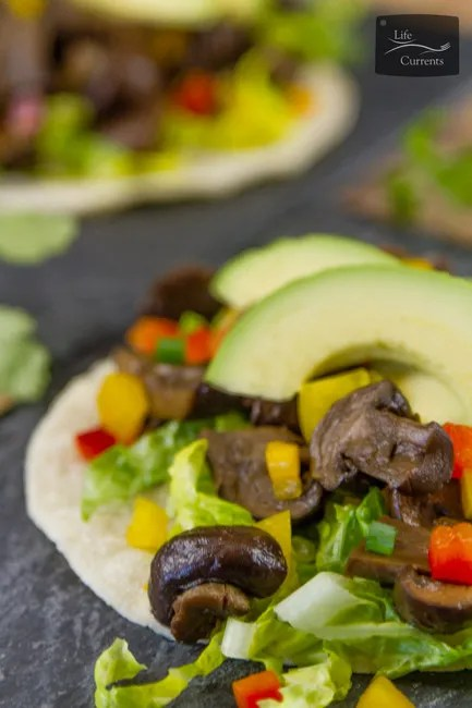 Crock Pot {or Slow Cooker} Mushroom Asada or Hongos Asada in Spanish are vegan, vegetarian, gluten-free, and perfect for Cinco de Mayo or any Taco Tuesday!