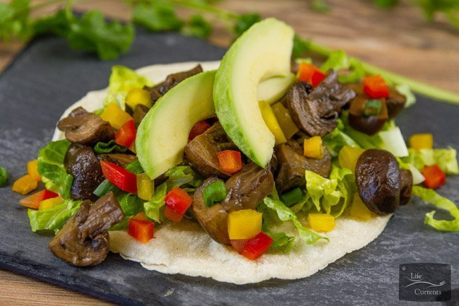 Crock Pot {or Slow Cooker} Mushroom Asada or Hongos Asada in Spanish are vegan, vegetarian, gluten-free, and perfect for Cinco de Mayo or any Taco Tuesday!