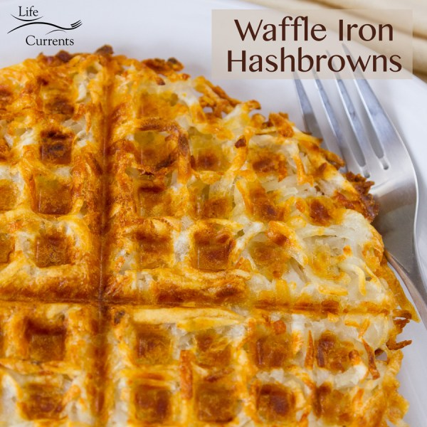 Waffle Iron Hashbrowns - crispy and browned on the outside, with just a bit of soft potato goodness on the inside
