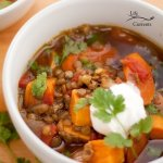 Lentil and Sweet Potato Stew recipe vegan gluten free