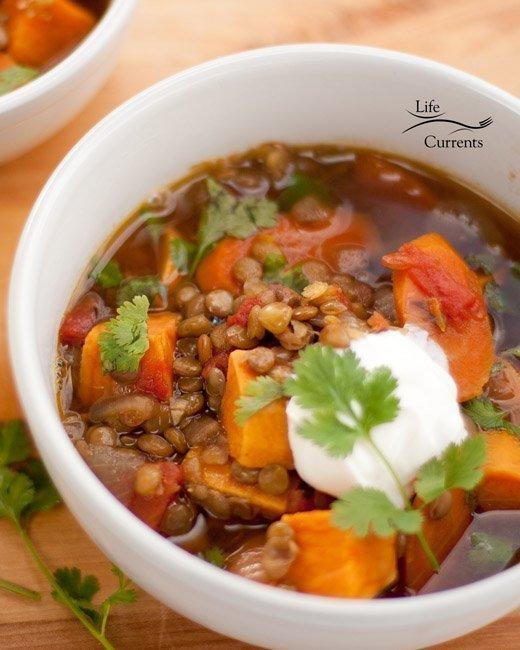 Lentil and Sweet Potato Stew recipe vegan gluten free
