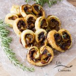Blue Cheese, Fig, and Caramelized Onion Palmiers appetizer recipe