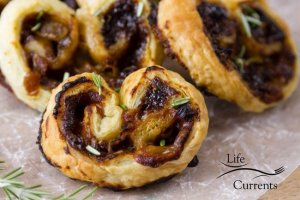 Blue Cheese, Fig, and Caramelized Onion Palmiers