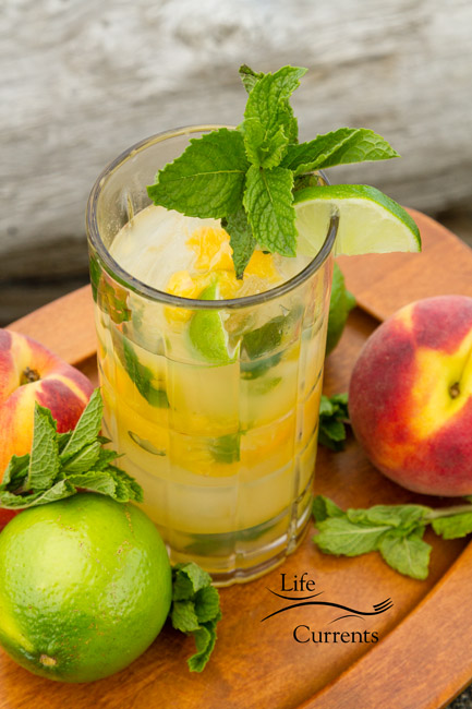 Watermelon Agua Fresca featured recipe for Peach Mojito drink - because fruits are so amazing in the summer. And, peaches are pretty much my favorite summer fruit!