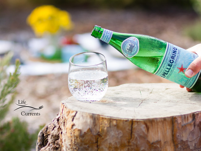 Basil Lime Sparkling Green Tea recipe made with San Pellegrino Sparkling Mineral Water is a refreshing way to face the heat of summer!