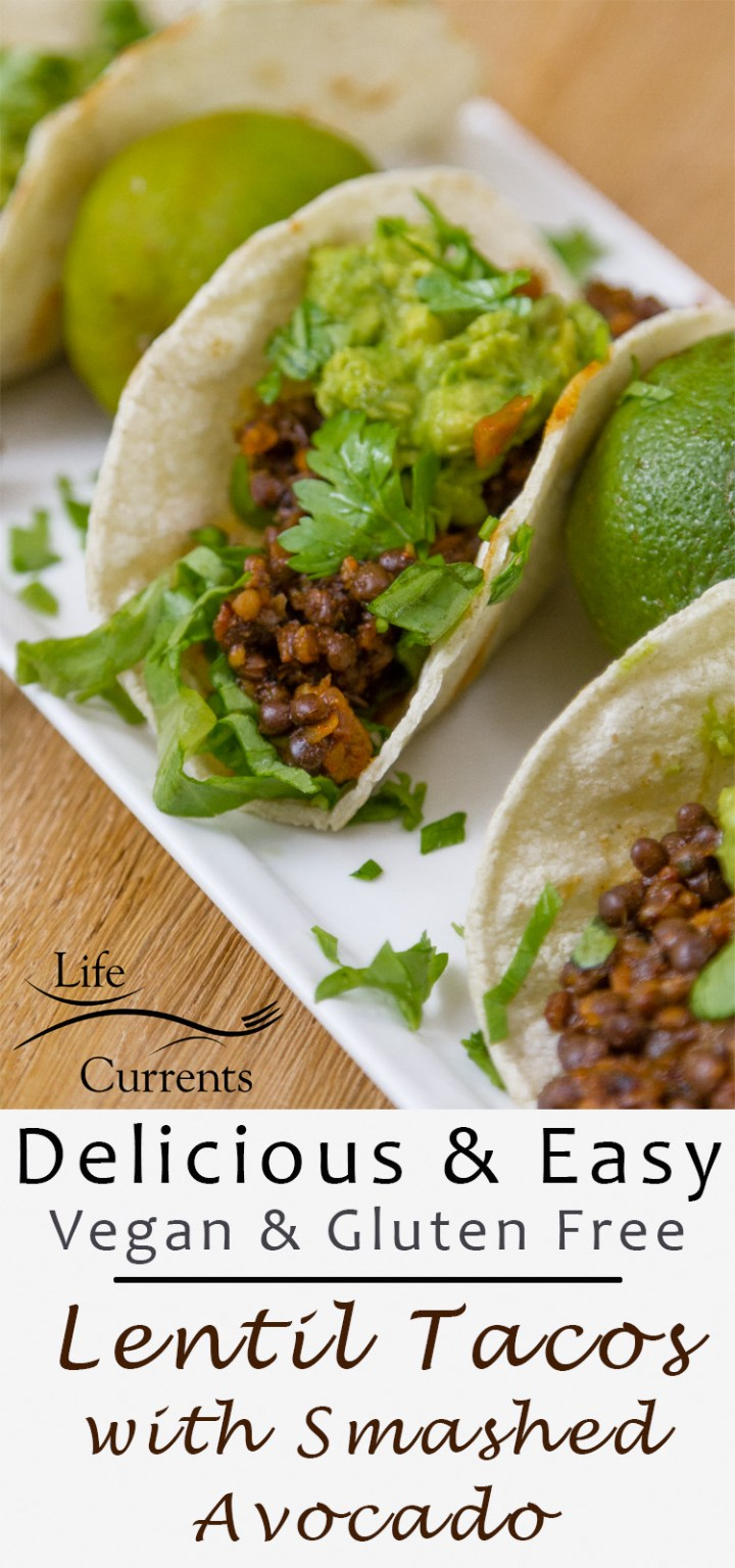 Easy Lentil Tacos with Smashed Avocado Recipe are sure to be a family favorite for Taco Tuesday or any day!
