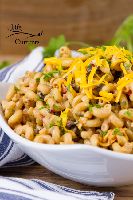Loaded Southwestern BBQ Pasta Salad -- an easy make ahead pasta salad recipe