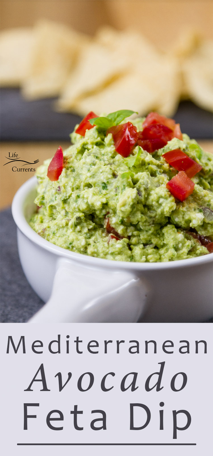 Smooth and creamy, this Mediterranean Avocado Feta Dip is filled with wonderful earthy basil and salty feta cheese. This dip will be welcome at your next party!
