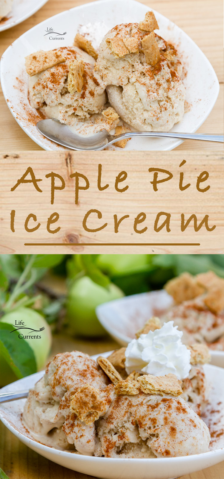 Have your apple pie and your a la mode all in one delicious frozen treat that's as classic and American as Apple Pie