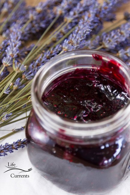 Small Batch Mixed Berry and Lavender Jam Recipe - homemade preserves