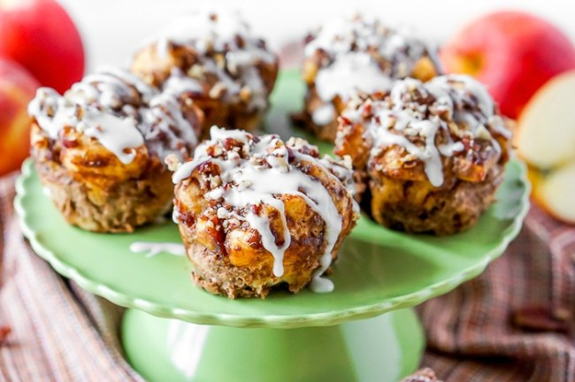 Recipes that use Apple Butter - Apple Pie Cinnamon Roll Muffins