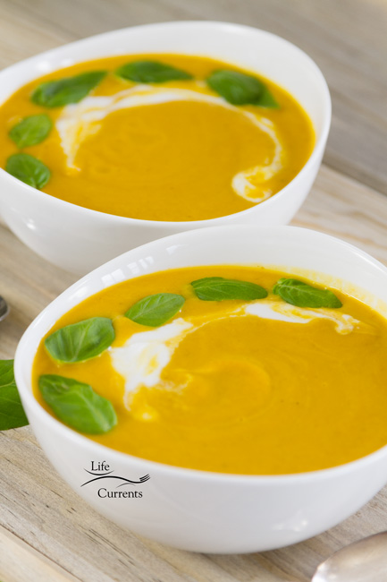 Pumpkin Coconut Soup - healthy, delicious, and so fall!