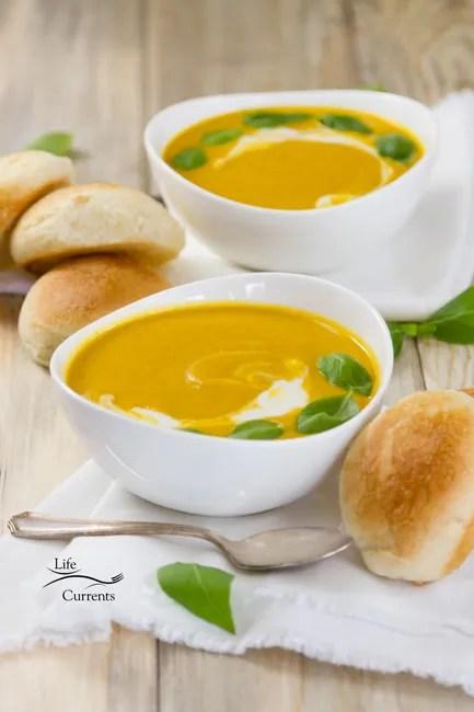 Pumpkin Lasagna with Roasted Butternut Squash featured recipe for Pumpkin Coconut Soup Hearty Recipe