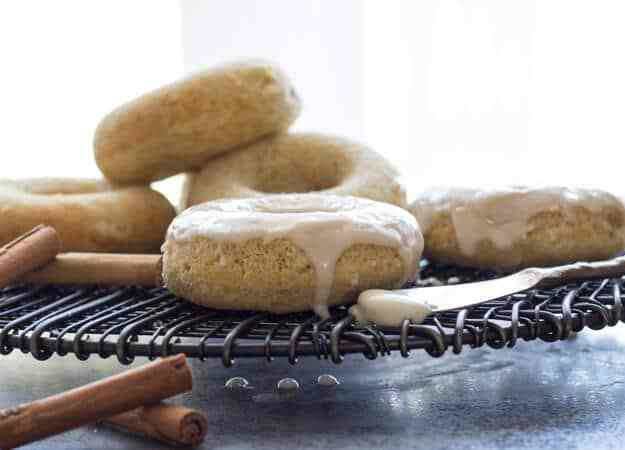 Recipes that use Apple Butter - Baked Apple Butter Cake Donuts with Maple Frosting