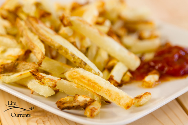 Oil-Free Oven French Fries made in the Breville counter top oven
