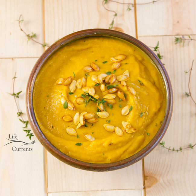 Roasted Butternut Squash Soup - comforting and rich