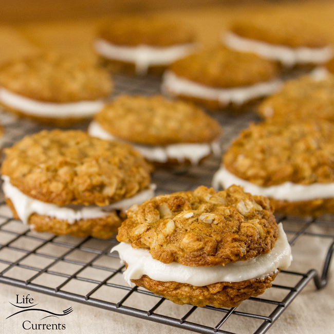 Oatmeal Sandwich Cookies - part of Freaky Friday's cookie exchange