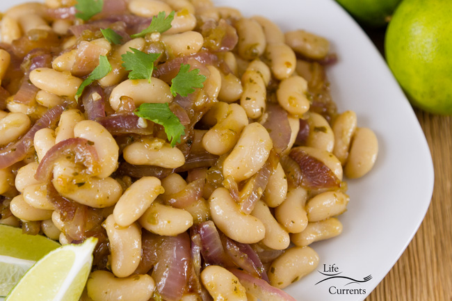 White Bean Taco Filling featuring Goya Foods can also be served as a side dish without the sweet potatoes