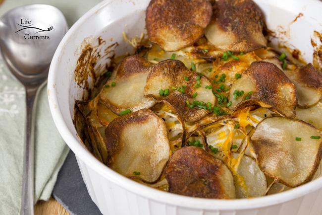Skinny Potato and Onion Bake Casserole those potatoes and onions get good and creamy
