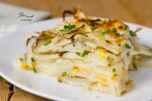 Skinny Potato and Onion Bake