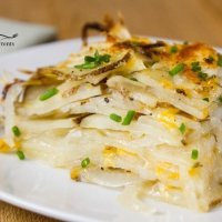 Skinny Potato and Onion Bake