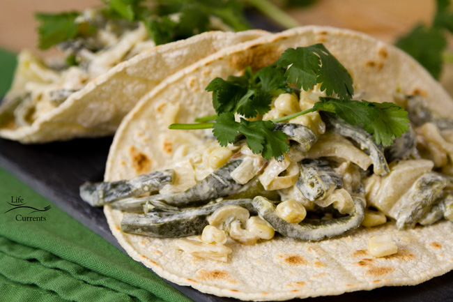 Sheet Pan Creamy Poblano Tacos - nice and easy to make, just pop them under the broiler, then little reheat in the pan
