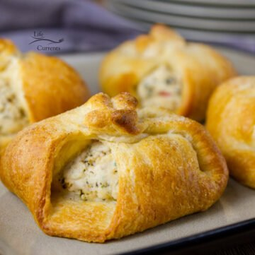 Crescent Chicken Squares - Chicken and cream cheese wrapped in crescent rolls. So family friendly. So easy, and so good.