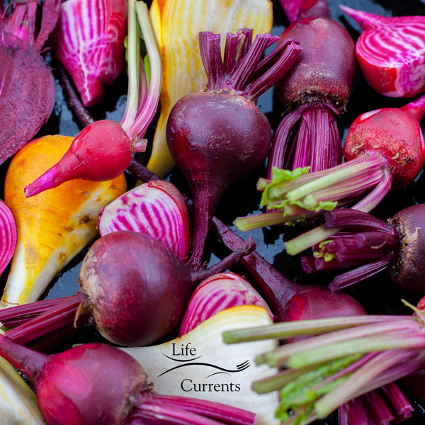 Simple Oven Roasted Beets - look at all those colors of beets!