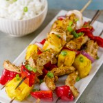Grilled Teriyaki Chick'n Skewers - serve with some white rice for a delicious meal