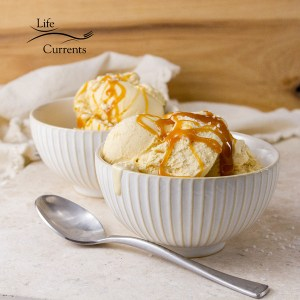 Salted Caramel Ice Cream - super premium ice cream made at home