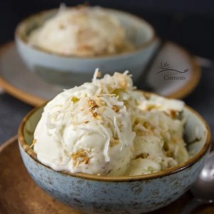 Coconut Custard Ice Cream