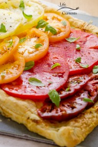 Ombre Heirloom Tomato Ricotta Tart