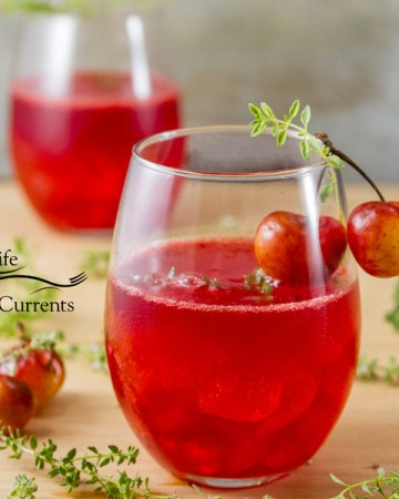Cherry Scotch Sipper a light refreshing summer drink